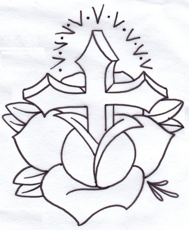 Easy to Draw Cross Designs | iron cross tattoo,black rose ...