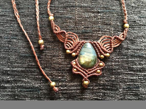 Hey, I found this really awesome Etsy listing at https://www.etsy.com/listing/566356205/labradorite-macrame-macrame-necklace