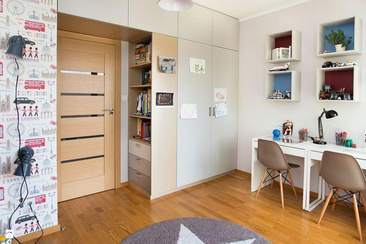 Pokój braci-zabawa, nauka, odpoczynek - zdjęcie od Renee's Interior Design - Pokój dziecka - Styl Nowoczesny - Renee's Interior Design