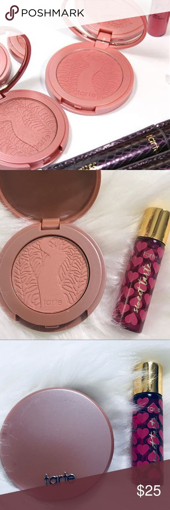"✨💄x2 Tarte blush New shade concept ""& sweet tarte All brand new Tarte Amazon clay 12 hour wear blush 1.5 g/ 0.05 oz /! With travel Tarte perfume "" Sweet Tarte "" mini roller ball . All brand new from sets no box .  Deluxe travel size ! Add r bundles offer ! tarte Makeup Blush"