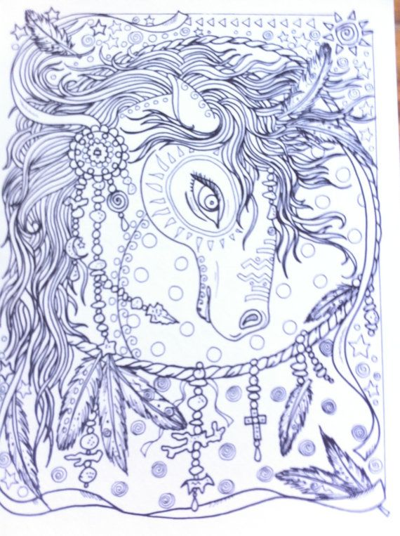 COLORING BOOK Animal Spirits Coloring Book for by ChubbyMermaid