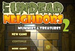Juega a la segunda entrega de My Undead Neighbors, un vecino zombies. Esta vez ha viajado a las pirámides de Egipto para encontrar la cura de transformar a los zombies en humanos, pero para ello debes adentrarte en las aventuras de las pirámides, abriendo puertas y activando mecanismos. ¡Buena suerte!