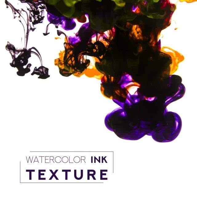 Purple And Yellow Ink In Water Water Cover Paint Png And Vector With Transparent Background For Free Download