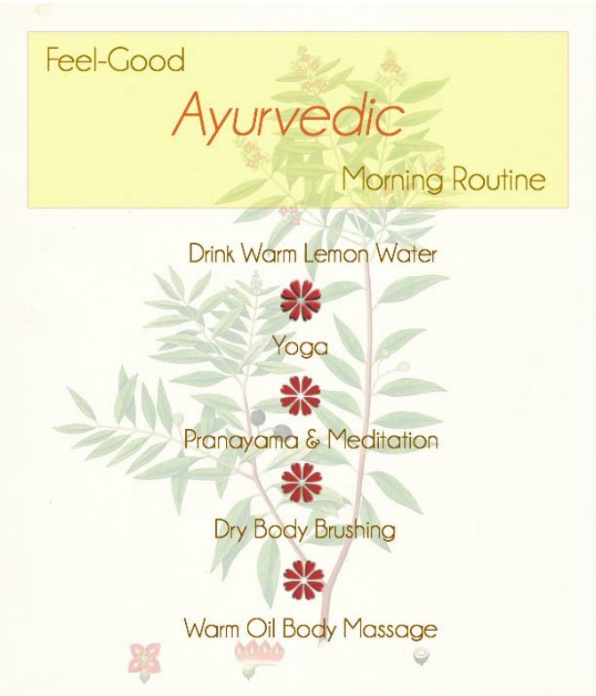 Feel-good #Ayurvedic Morning Routine to kickstart the day!