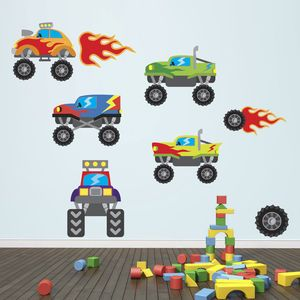 Monster Truck Wall Stickers - baby & child sale