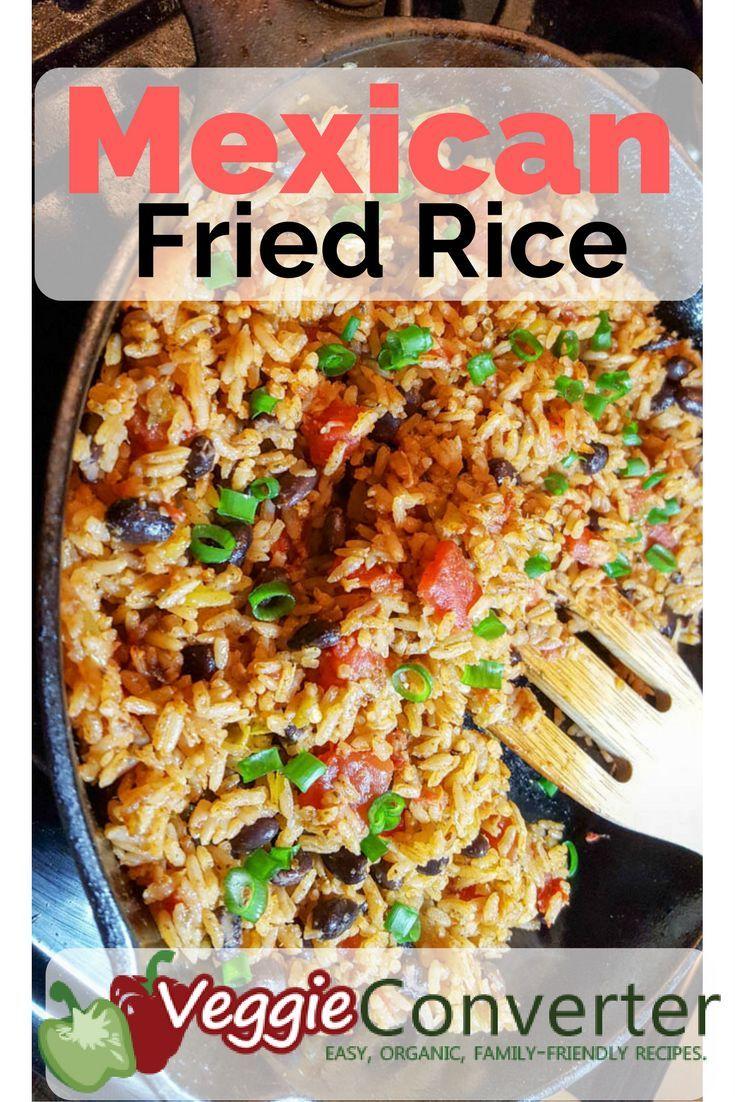Mexican Fried Rice www.veggieconverter.com