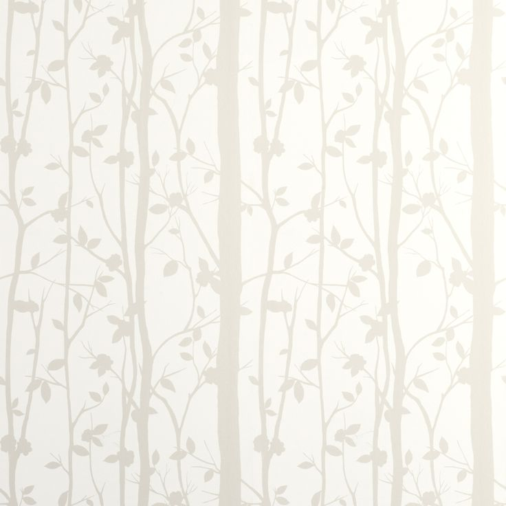 Cottonwood White Leaf Wallpaper With Its Attractive Leaf Design This Printed Washable Wallpaper Features Pearlescent