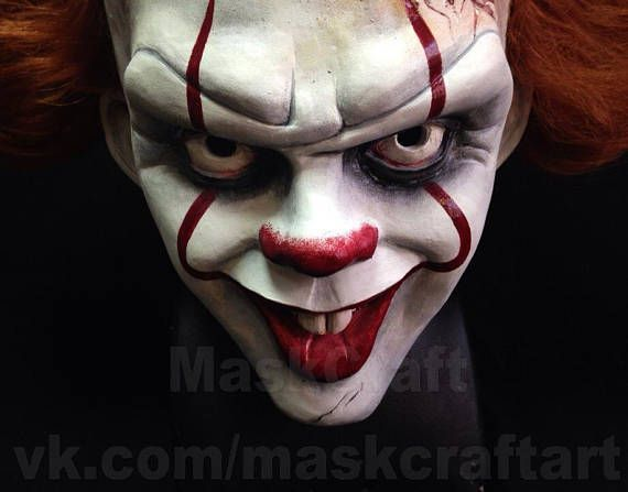 Pennywise mask by Maskcraft Hello! We decided to answer the most frequent questions in advance, so please read this text carefully. 1. All masks and helmets are made by hand from the durable plastic EasyFlo 60 or its analogs. The parameters of this material can be found on the Internet.