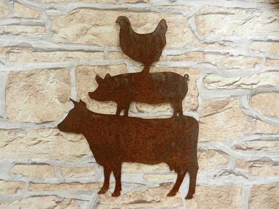 Home Décor En On Pig Cow Metal Wall Art Cpdstandards
