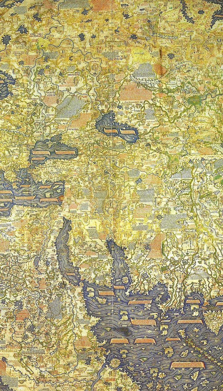 Medieval World Map La question des insertions typographiques dans les cartes se posaient déjà à cette époque