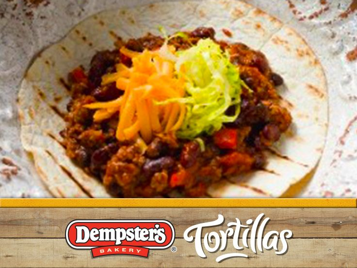 Get 2X the taste with a Double Beef and Bean Burrito. @Dempster's® Bakery #WrapItUp