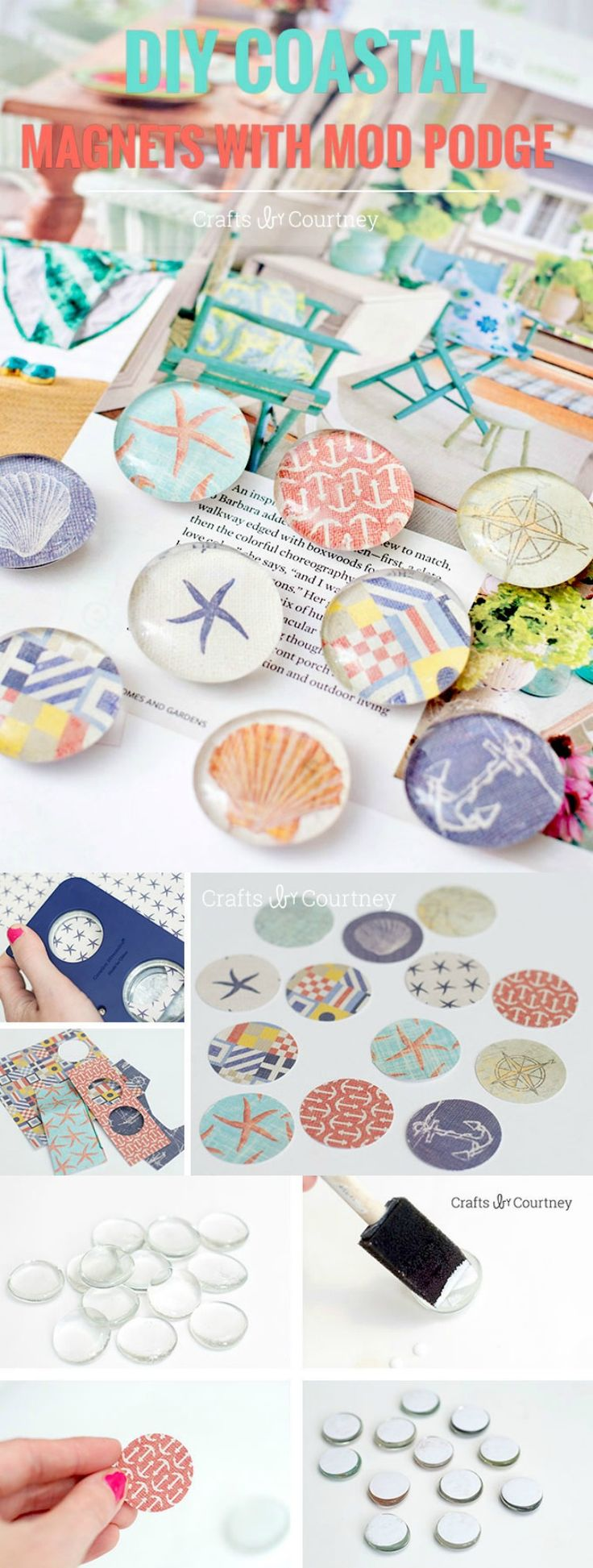 Nautical Themed DIY Magnets in Four Easy Steps