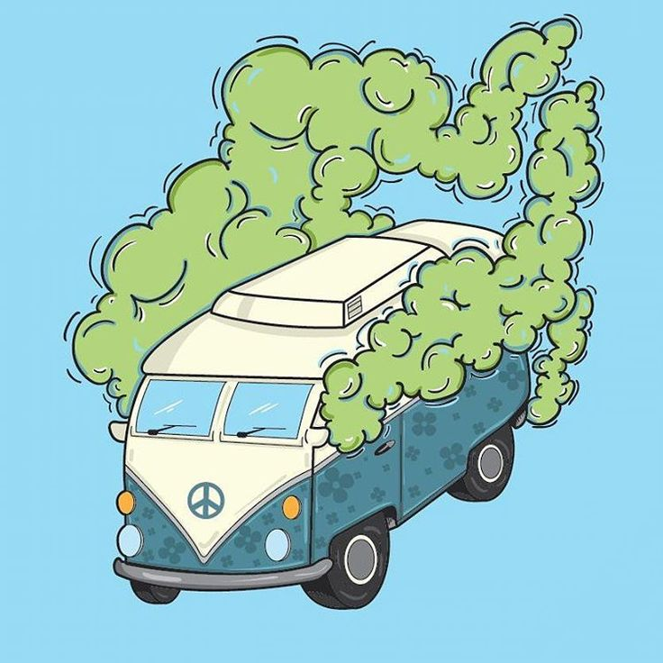 "Hippy van illustration - ""Road Trippin""  #illustration #art #colours #design…"