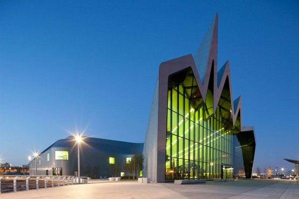 The Riverside Museum of Transport designed by Zaha Hadid Architects #glasgow #scotland