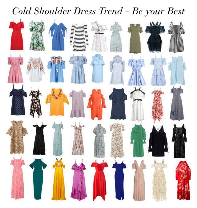 Cold Shoulder Dress Trend by gabriela2105 on Polyvore featuring moda, Fendi, Dolce&Gabbana, Safiyaa, Anna October, Temperley London, AlexaChung, J.W. Anderson, self-portrait and IRO