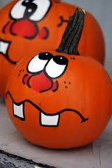 painted pumpkin faces templates - Google Search