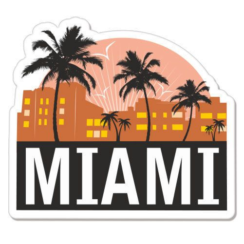 Miami city florida travel car bumper sticker decal 4 x