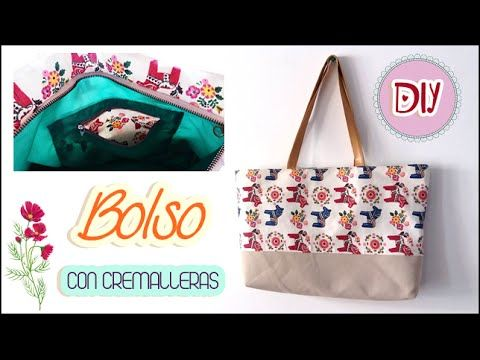 DIY - Bolso en Tela By María Fernanda (B2/2)( Hand made Tote / Bags / Purses / Handbags / Wallet ) - YouTube