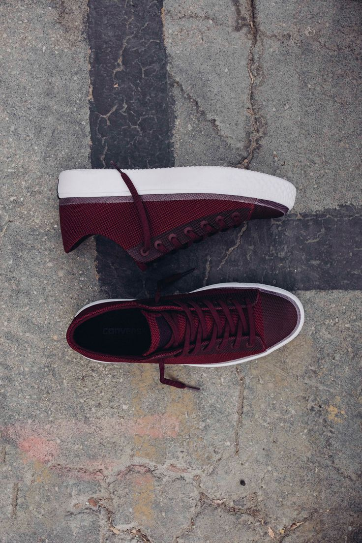 New Deep Bordeaux Chuck Taylors from Converse that feature mesh uppers and light weight design