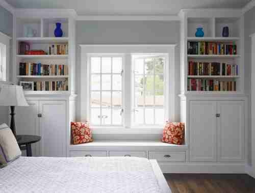 bookshelves i want built into the master bedroom