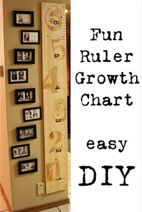 Cheap Decorating Ideas: Keeping track of your child's growth is even more fun with this cute growth chart. An added plus, you can take it with you when you move..... WISH I WOULD HAVE DONE THIS!