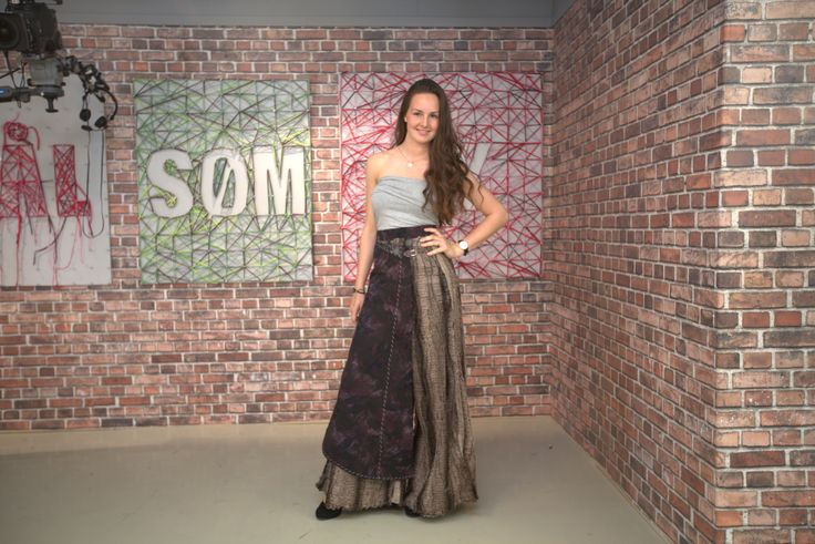 """Statement skirt. Episode 1.   """"Det store symesterskapet"""" NRK 1  (The great sewing competition) Winner of the masterpiece of the week"""