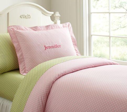 Organic Mini Dot Duvet Cover, Pottery Barn Kids, Ju Ju's future bedding!