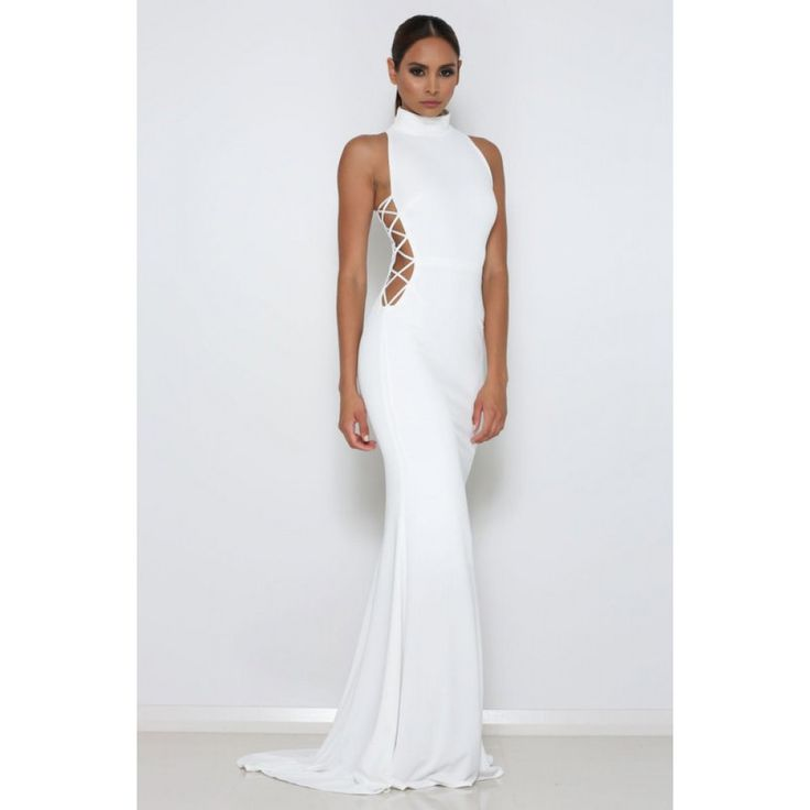 Our best designer #AbyssByAbby Kenya - White Gown is available at Price: 250.00 AUD. For more details, visit our website.