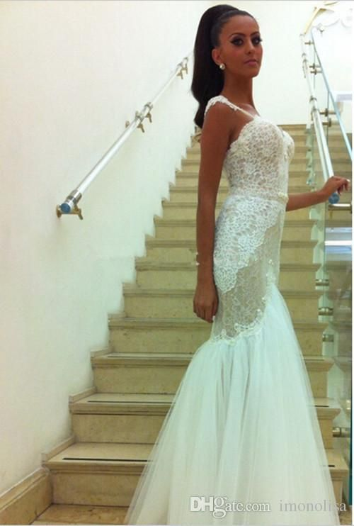 Lace Mermaid Wedding Dresses Sweetheart Sleeveless Backless Floor Length 2016 Tulle Applique White Bridal Dress Gowns Discount Bridal Gowns Dresses Wedding From Imonolisa, $146.08| Dhgate.Com