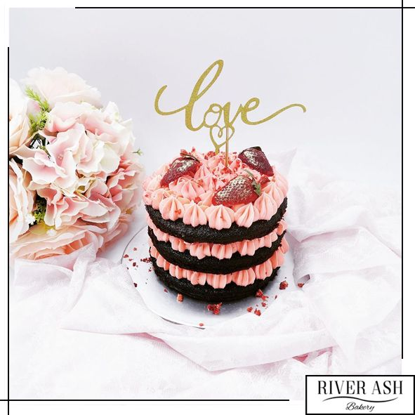 Naked Strawberry Dream Cake - River Ash Bakery - Cakes and Desserts Singapore