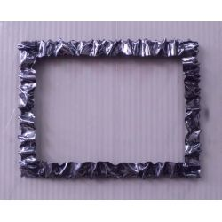 Frame design Wrought Iron for Mirror or Photo. 64 x 83 cm. Color Transparent Iron Brushed Finish. 850