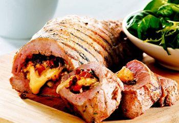 Filet de porc au brie et aux tomates séchées