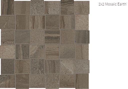 Amelia Marble 2x2 Mosaic Earth #amelia #marble #faberstoneandtile