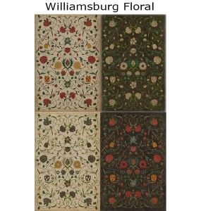 Gorgeous American Made Williamsburg Floral Vinyl Floor Covering