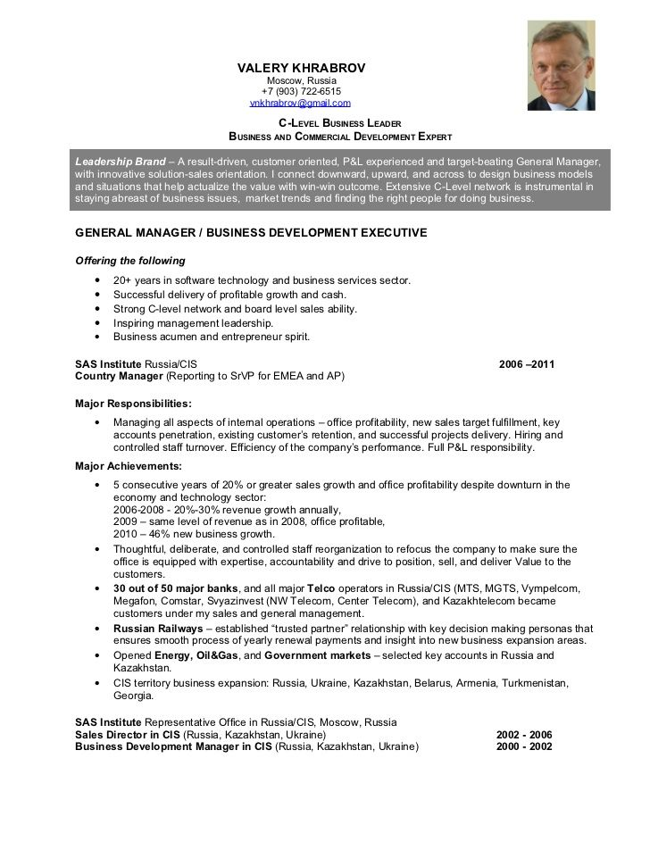 C Level Resume Examples Resume examples, Executive resume and Template - winning resume examples