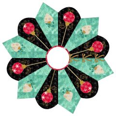 "Dresden Ornaments Tree Skirt | Does your taste run towards more ""modern"" fabrics? Maybe you'd like to break away a little from traditional Christmas colors and expand your palette. This little tree skirt offers a chance to do precisely that. Maybe you want to consider using some of the fabrics in your stash with an Asian influence!"