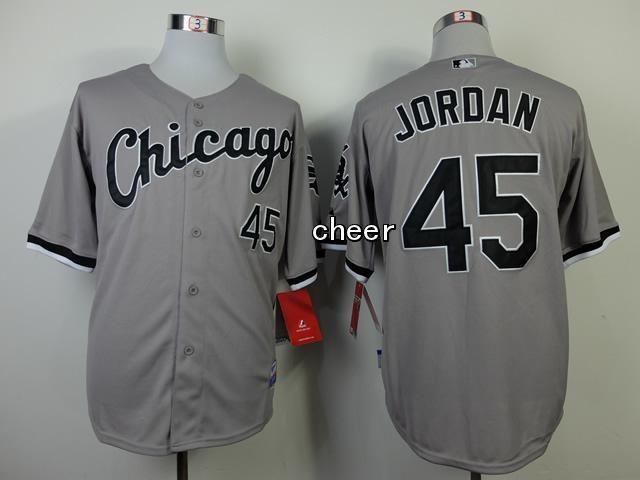 Men's MLB Chicago White Sox #45 Jordan Grey Jersey