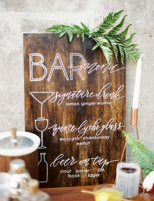 wooden signs for wedding reception ideas