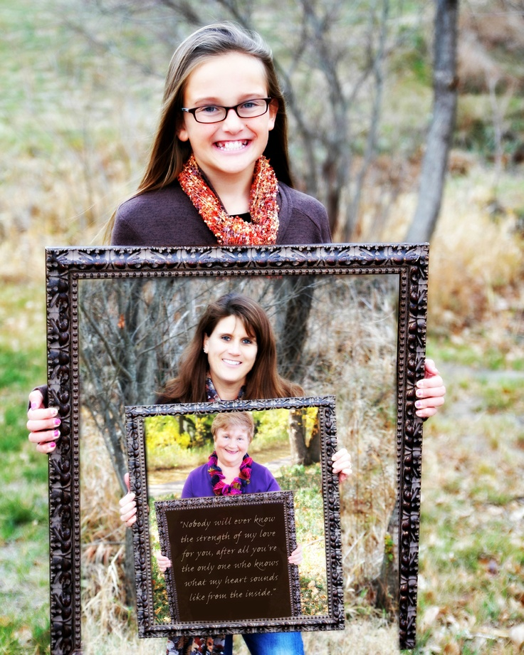 Birthday or Mother's Day gift! 3 generations photo. #diy #mothersday #giftideas