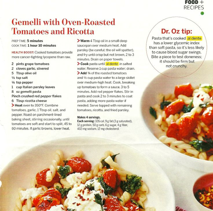 Gemelli with Oven-Roasted Tomatoes and Ricotta, from The Good Life ...