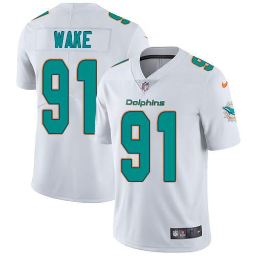 nike dolphins 91 cameron wake white youth stitched nfl vapor untouchable limited jersey jamison crowder