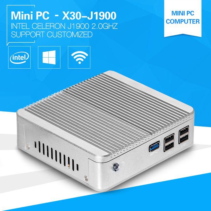 Cheap PC Computer Quad Core Celeron J1900 Mini PC Windows 10 with 4G Ram 64G SSD HDMI VGA USB3.0 Vensmile