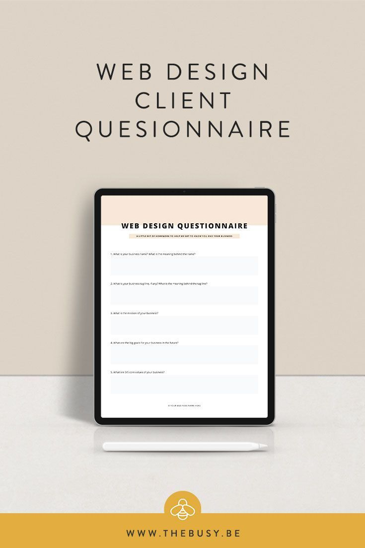 Customer Questionnaire In 2020 Web Design Quotes Design Clients Web Design Tips