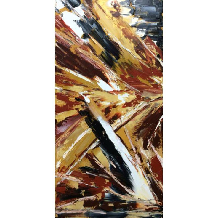 Art abstrait, Huile, Détermination et force