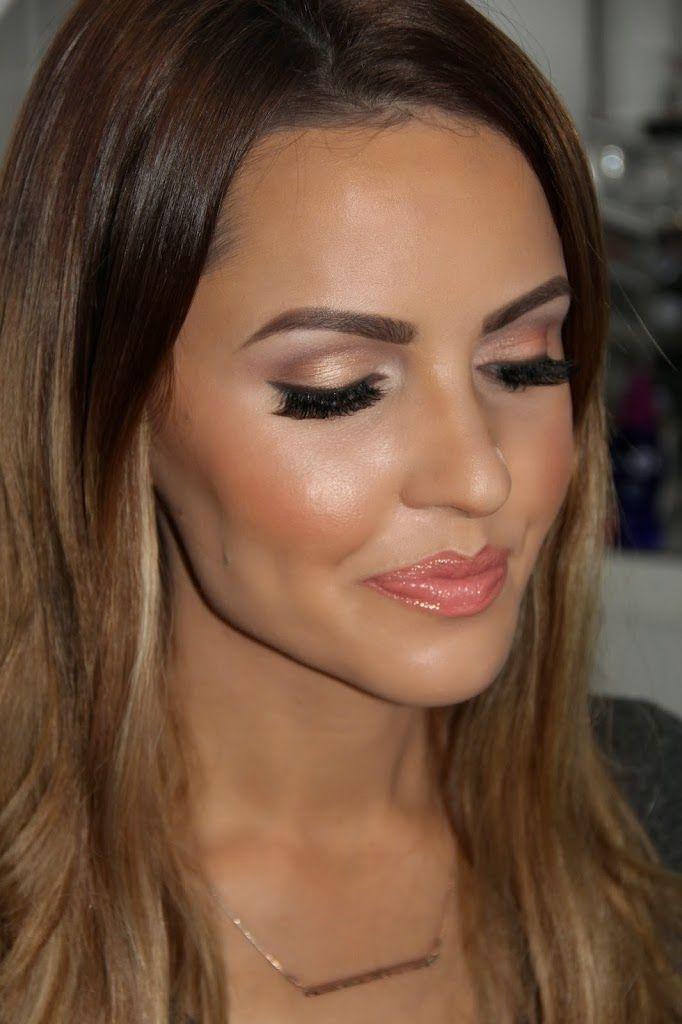 Coral Makeup. Lip: Mac Coral Bliss. Blush: Tarte Tipsy. Natural Makeup for tan/olive skin.