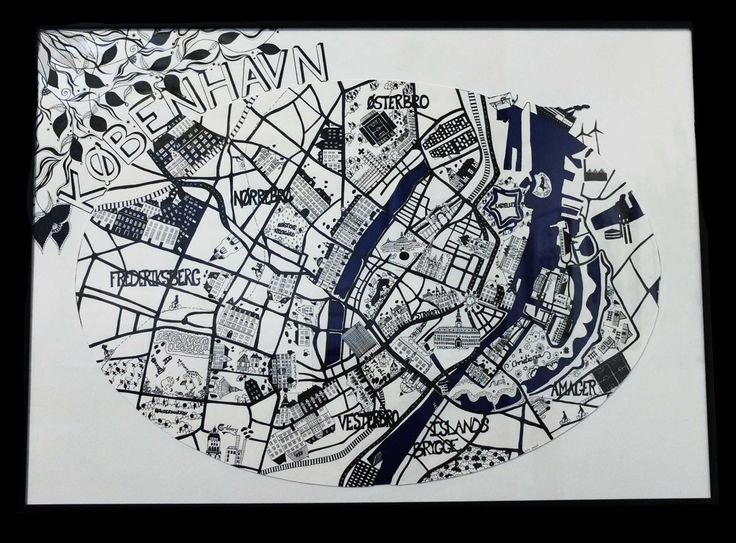 København Original drawing made of ink. March 2012.