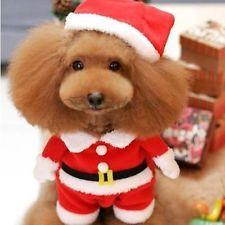 Cute Xmas Santa Claus Costumes Fancy Dress for Dog Puppy Clothes Apparel Coat