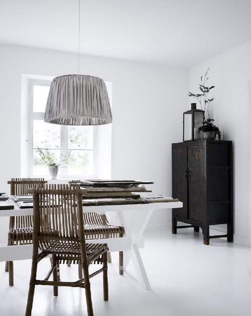 Beautiful room. Love the lamp and chairs.