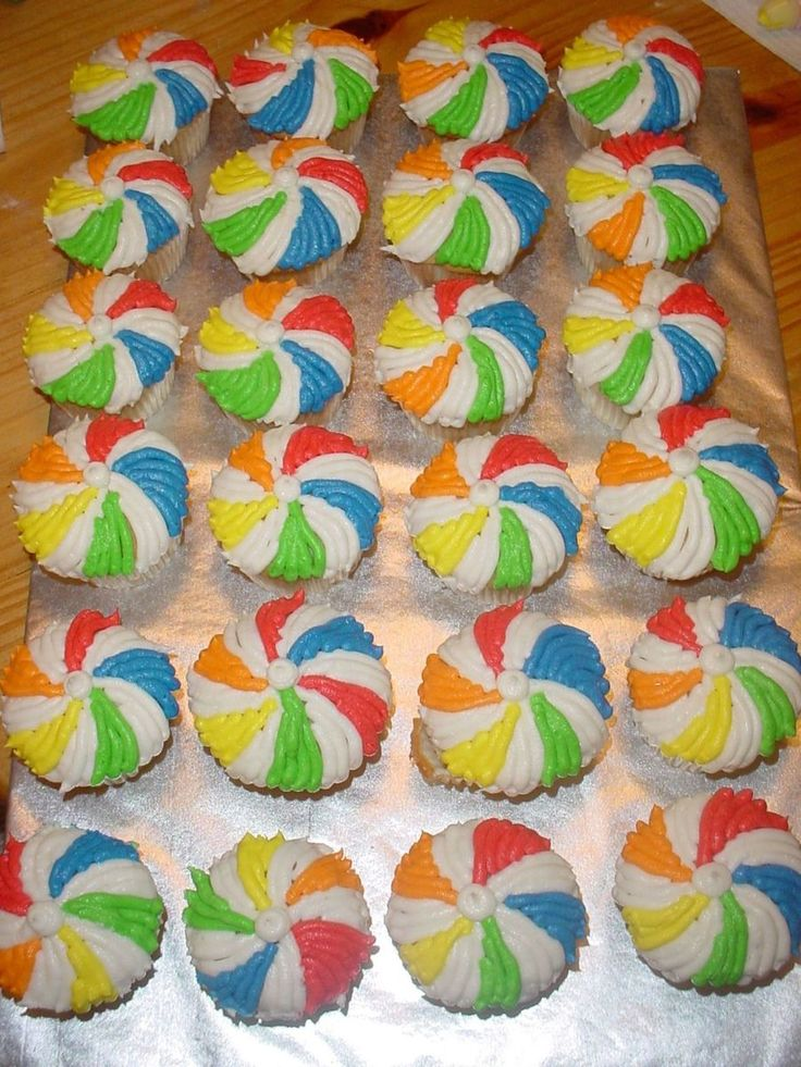 Beach Ball Cupcakes on Cake Central
