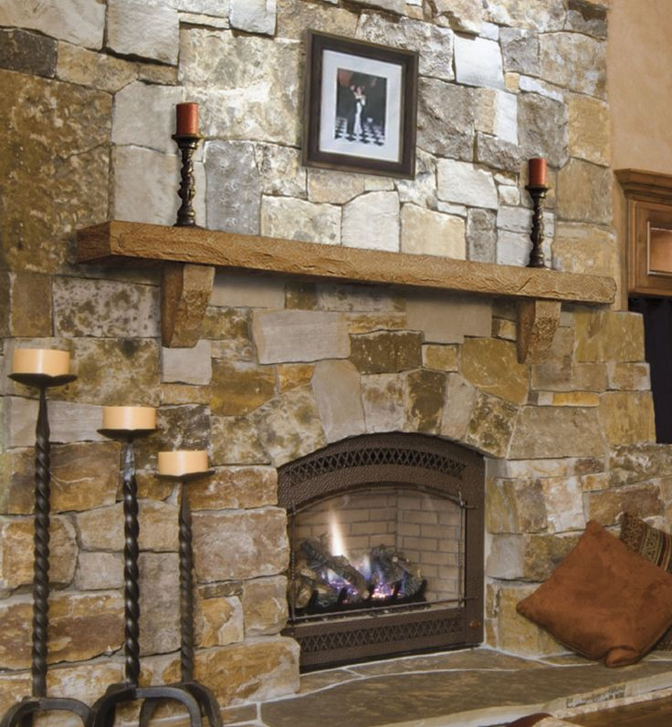 13 best mantel decorations images on pinterest fire for Rustic mantels for stone fireplaces